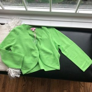 Lilly Lovely Cardigan Cashmere & Wool Green NWT